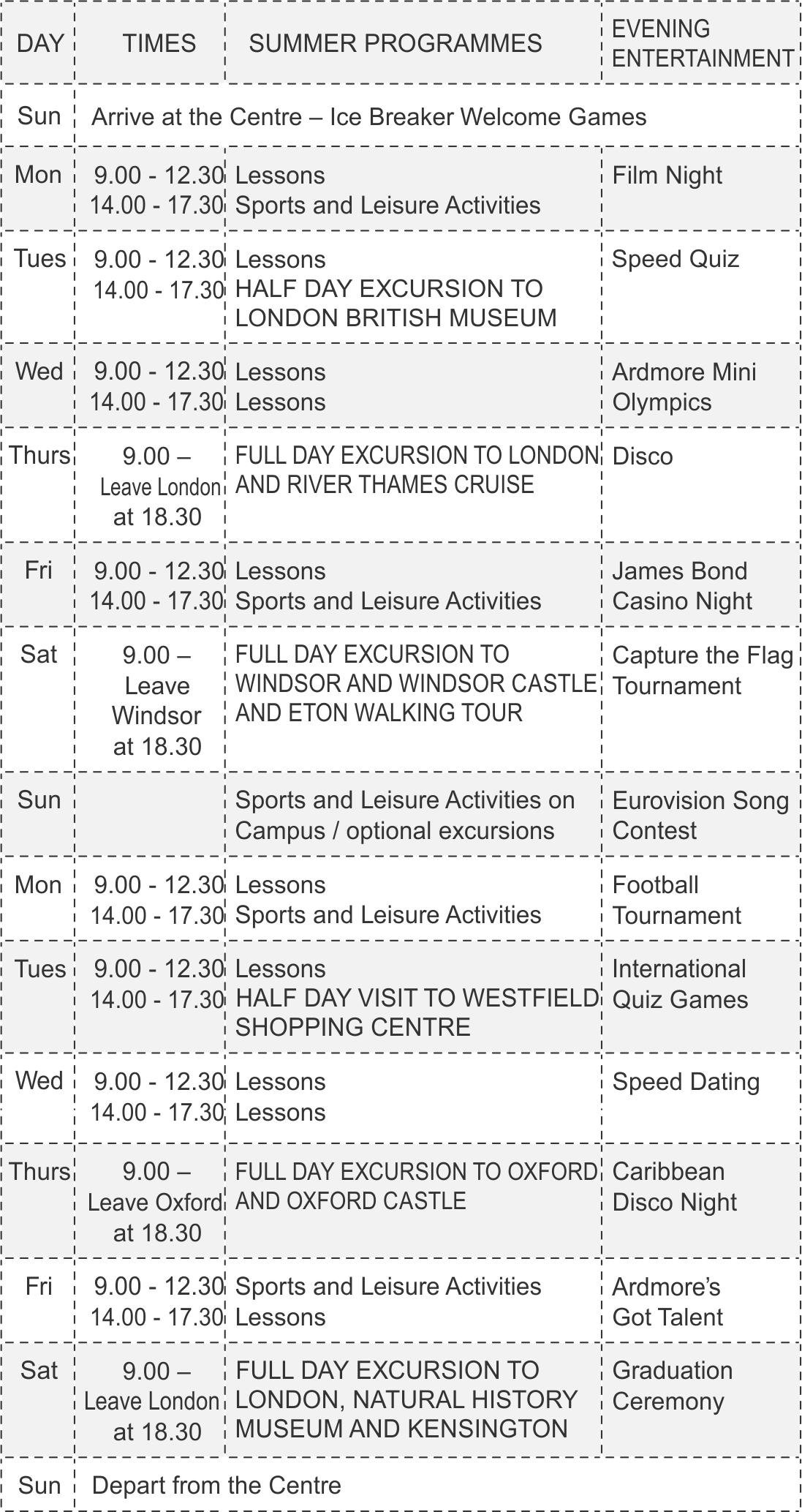 Brunel расписание