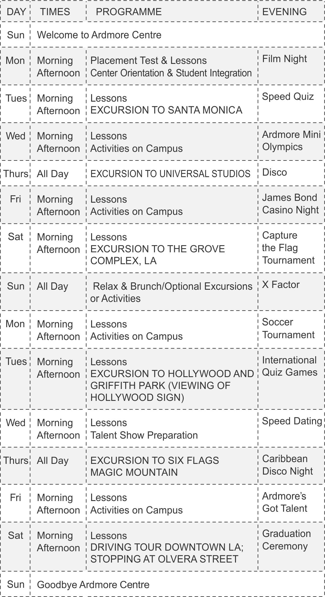 UCLA расписание