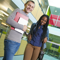 Lancaster ISC students at the university.
